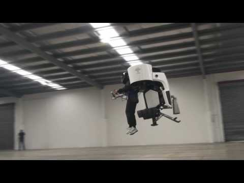 Ray flies Martin Jetpack for a VIP