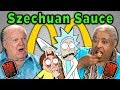 ELDERS REACT AND TRY McDONALD'S SZECHUAN SAUCE (Rick and Morty)