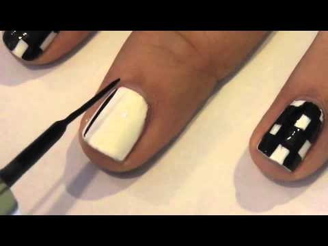 Black And White Checkered Nail Designs White Checkered Nail Art