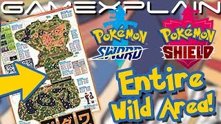 Full Map of the Wild Area in Pokémon Sword & Shield Revealed! (...Blurrily)