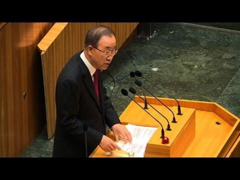"""Ban Ki-moon """"preocupado"""" por políticas migratorias de la UE"""