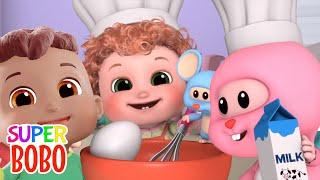 Hot Cross Buns | Nursery Rhymes | +4K Baby songs and 3D Cartoon - Blue Fish