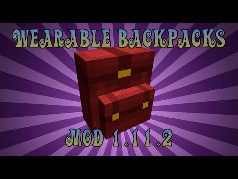 WEARABLE BACKPACKS MOD (1.11.2)! Minecraft review en español 2017