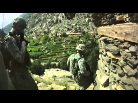 Afghanistan War - US Army under attack - Apache kills Taliban
