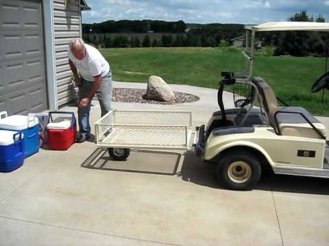 Tow N Go >> Stow'n Tow Golf Cart Trailer - YouTube