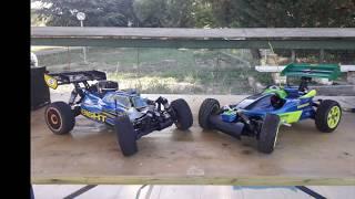 $1000 RC Car- Losi Buggy Gas 1/8 vs RC Vintage Buggy Mantua Futura