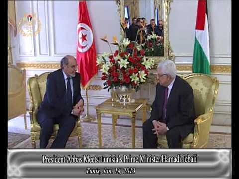 President Abbas Meets Tunisia's Prime Minister Hamadi Jebali