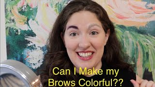 Making My Eyebrows Purple and Having Fun at Home *funny*