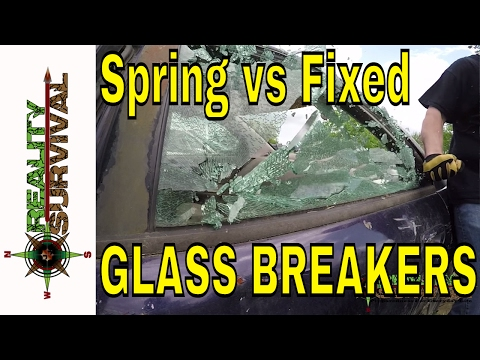 Urban Survival Tips: Spring Loaded Punch VS Fixed Glass Breakers