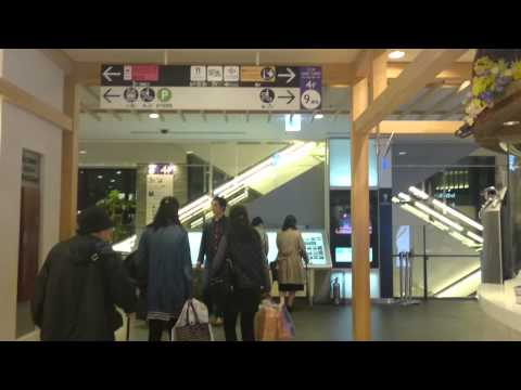 The way from Oshiage station to the Ticket center at Tokyo Sky Tree.