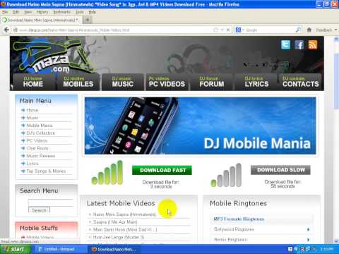 How To Download Vedio From www.djmaza.com
