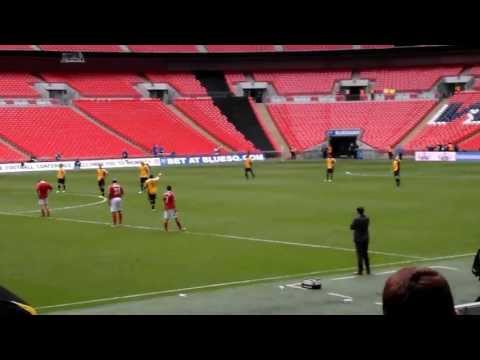 Newport County v Wrexham Blue Square Premier play-off final Wembley 5th May 2013