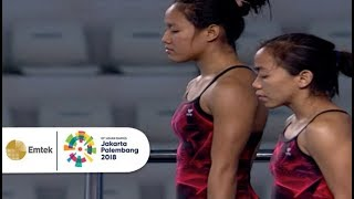 Highlight Diving Women's Synchronised 10m Platform  Asian Games 2018.
