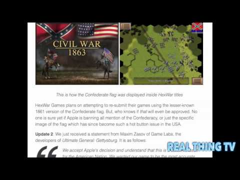 Apple Removes All American Civil War Games From the App Store Because of the Confederate Flag