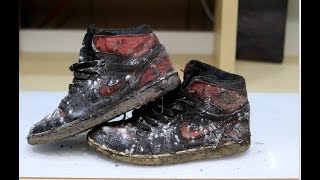 Heavily Obliterated $1200 2011 Air Jordan Banned 1's DEEP CLEANED!