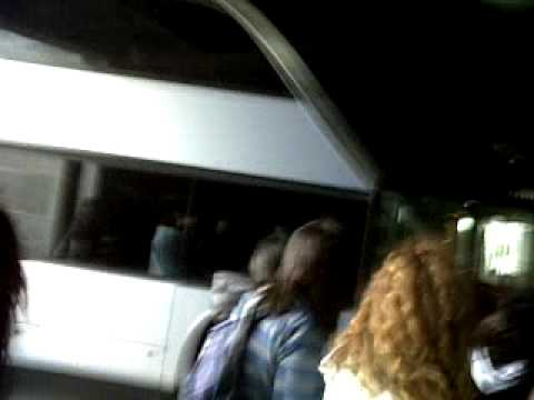 28.03.10 Arriving at the concert hall Belgrad