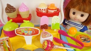 Sweet shop and baby doll candy Ice cream play baby Doli