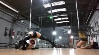 EXOTIC POLE STRIP PLASTIC PLASTIQUE PINKY PILL Dance pleaser boots CON Saara en inn fitness action