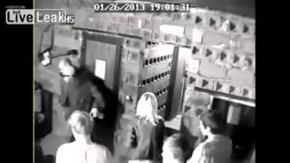 CCTV  Doorman slams guy on head