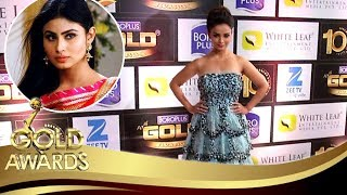 Adaa Khan Reacts On Mouni Roy Being A Part of Naagin 3 At Zee Gold Awards 2017 Red Carpet