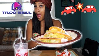 Taco Bell Mukbang + I Crashed My Moms Car Storytime!