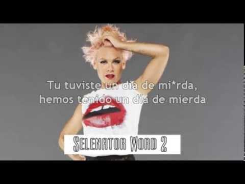 Pink - Blow Me One Last Kiss (subtitulada Al Español) video
