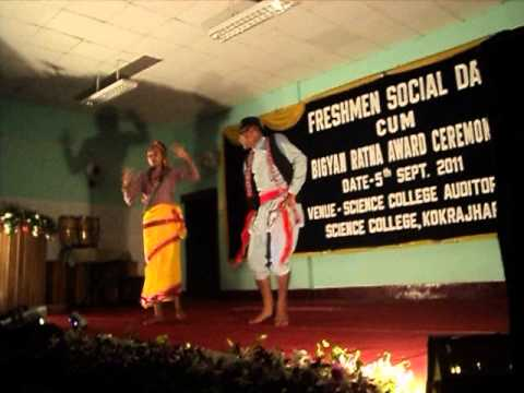Nepali Dance by Pushpa Raz Newar(PrazN) and Deepika Chhetry in Science College, Kokrajhar,Assam