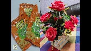 DIY Flower Pot out  Of waste Chips Wrapper | Best out of Waste Craft Idea | Handy mandy craft
