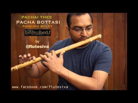 Pacha Bottasi   Pachai Thee   Bahubali  - Flute Instrumental by Flute Siva