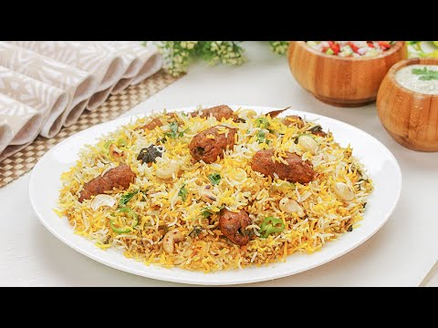 Kashmiri Kabab Biryani Recipe By SooperChef