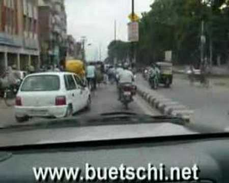 Crazy traffic in Patna, India