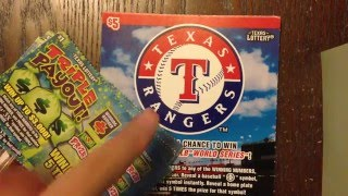$5 Rangers & $1 Triple Payout Texas Lottery Scratch Off Tickets