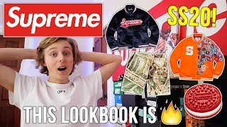 REACTING TO THE NEW SUPREME LOOKBOOK! SPRING SUMMER 20 IS GONNA RESELL🔥