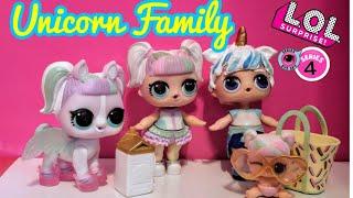 OMG! LOL Surprise Series 4 Wave 2 Pets Unicorn Pet UNIPONY  LOL Dolls Unicorn Family