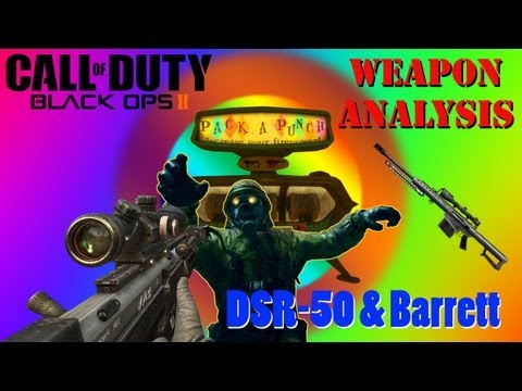 Black Ops 2 Pack a Punch Sniper Rifles DSR-50 & Barrett 4 Zombies + Iron Sig