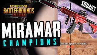MIRAMAR CHAMPS! Lights Out SQUAD PLAY in PUBG Mobile