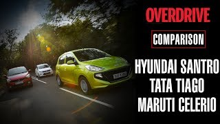 Hyundai Santro v Tata Tiago v Maruti Suzuki Celerio | OVERDRIVE