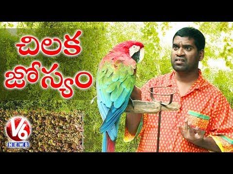 Bithiri Sathi Speaking With Parrot || Sathi On Parrot Astrology || Teenmaar News