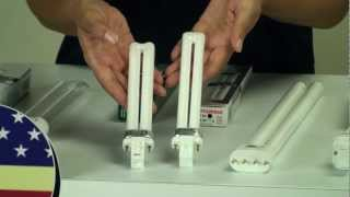 Differences between wattages and bases for Plug-in Fluorescent Bulb