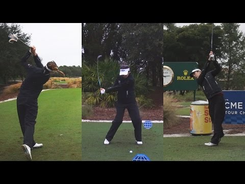 SANDRA GAL GOLF SWING FOOTAGE - 2014 CME CHAMPIONSHIP WITH SLOW MOTION