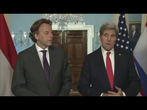 Secretary Kerry Delivers Remarks With Dutch Foreign Minister Koenders