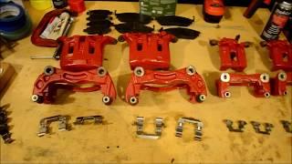 Brake Rotor, Caliper Replacement - Painted RED - Infiniti M35x