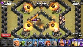 NMT | Clash of clans | Củ hành các đơn vị quân bộ bằng 4 khẩu mortar