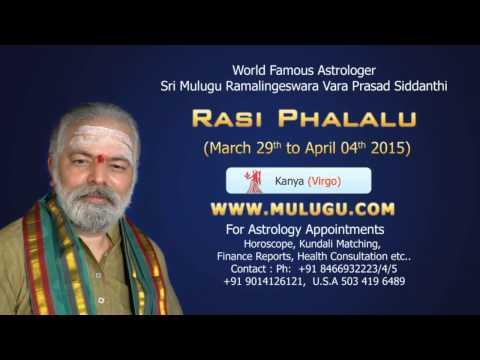 Kanya Rasi (virgo Horoscope) - March 29th - April 4th 2015 video
