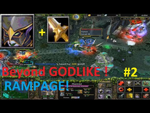 DotA 6.83d - Phantom Assassin, Mortred Beyond GODLIKE (RAMPAGE)