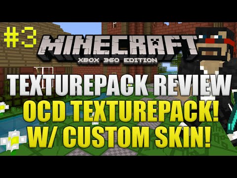 Minecraft Xbox 360: OCD Texturepack Review W/ Captainsparklez Skin (Episode 3) DOWNLOAD!