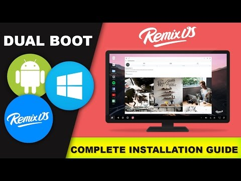 How to Install Remix os on Internal Hard Drive on Windows PC Dual Boot | Hindi