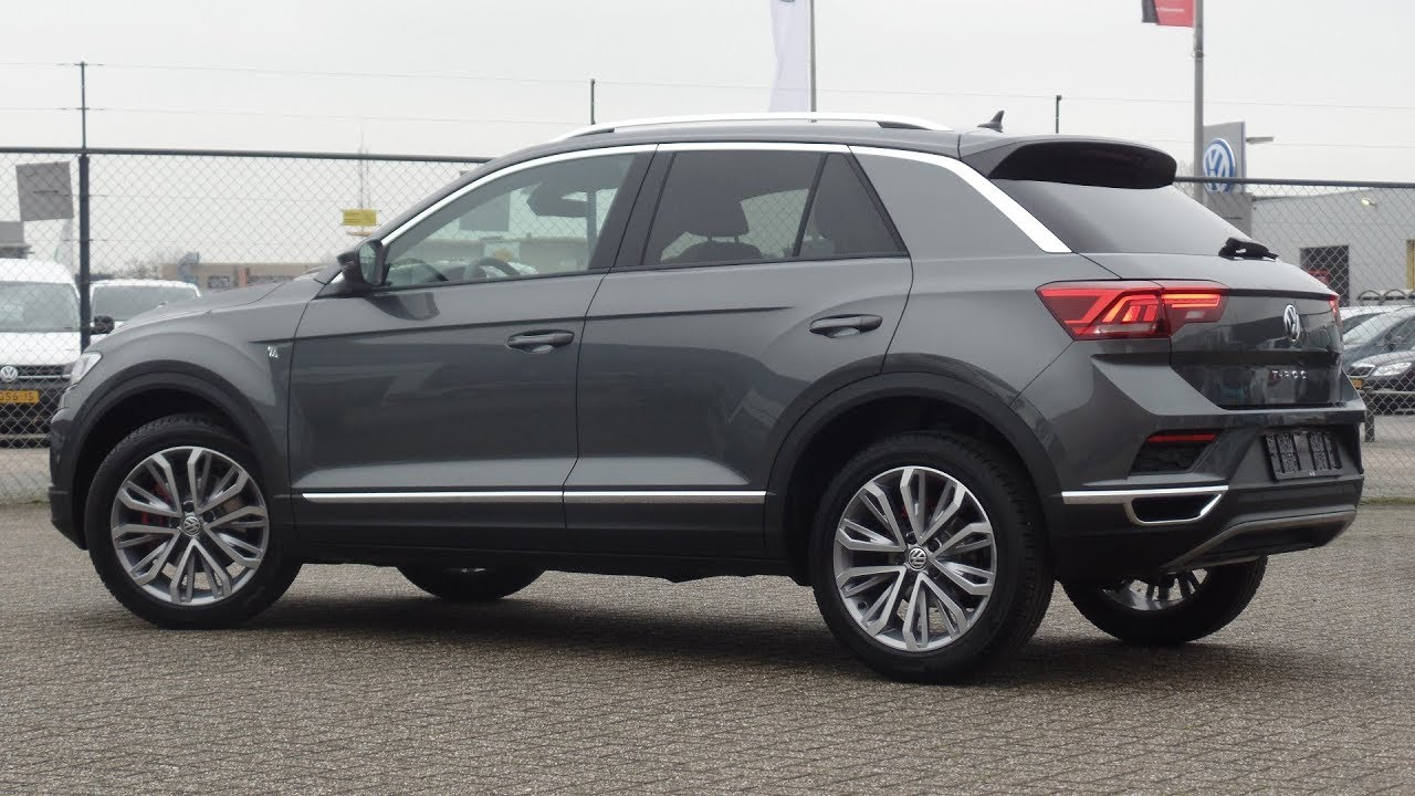 Volkswagen NEW T-Roc 2018 Sport Indium Grey Metallic 18 inch Montego Bay inside & walk around ...