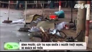 VTC14_Bình Phước: Gây tai nạn khiến 3 người thiệt mạng