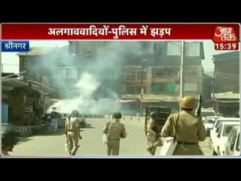 Protest In Srinagar After Separatist Leader Masarat Alam's Arrested